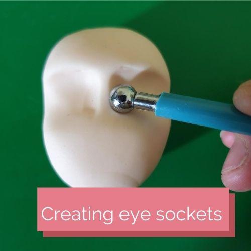 Creating eye sockets