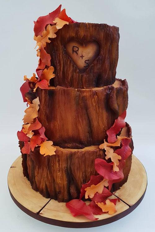 Rustic-tree-bark-wedding-cake