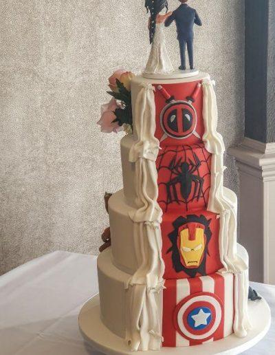 Superhero Reveal Cake (back)