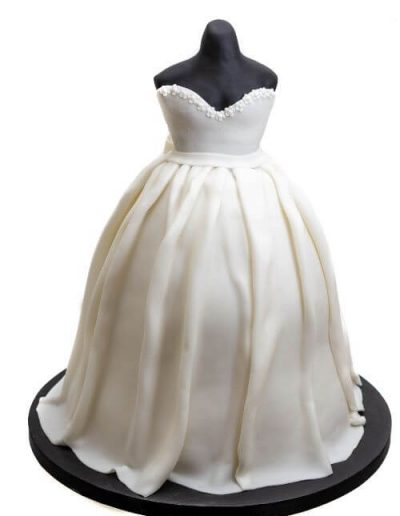 Wedding-Dress-Carved-Cake