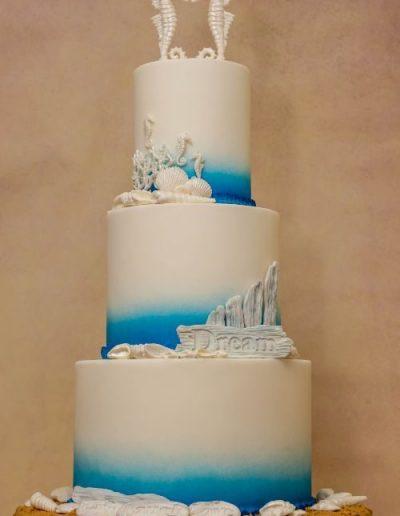 Beach-themed-wedding-cake-East-Yorkshire