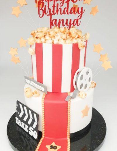 Cinema-movie-popcorn-themed-birthday-cake