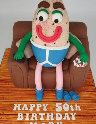 Couch-potato-themed-50th-birthday-cake