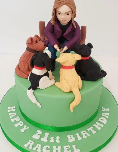Dog-lover-themed-birthday-cake