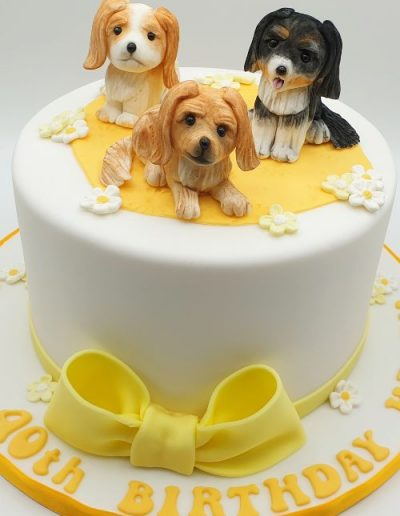 Dog-themed-king-charles-spaniel-birthday-cake