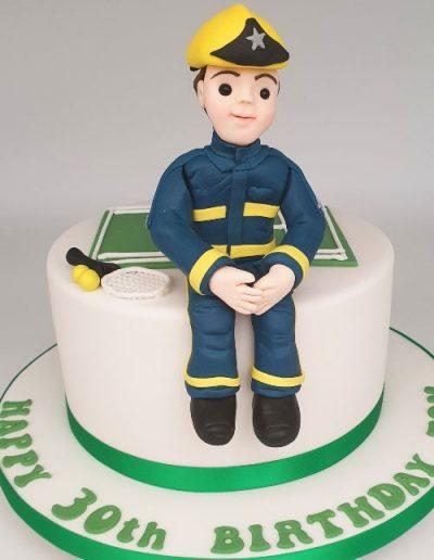 Fireman-themed-birthday-cake