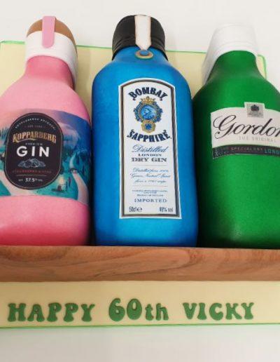 Gin-bottles-carved-cake-East-Yorkshire