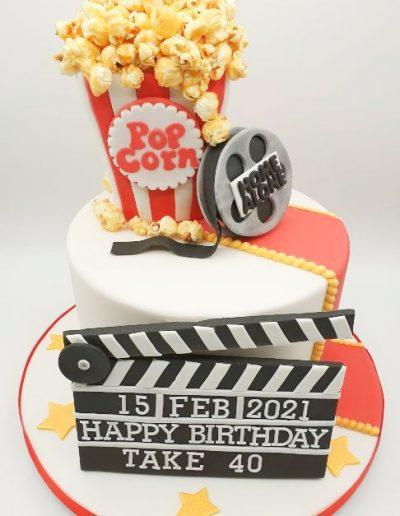 Movie-film-popcorn-themed-birthday-cake