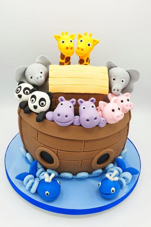 Noah's-ark-birthday-cake