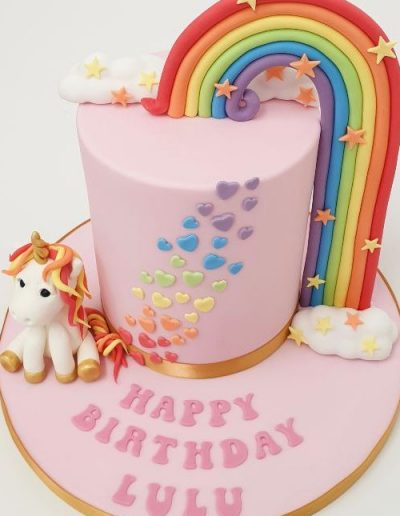 Rainbow-and-unicorn-themed-birthday-cake