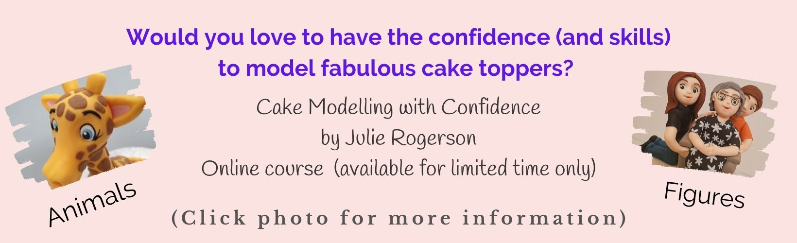 Cake modelling online course